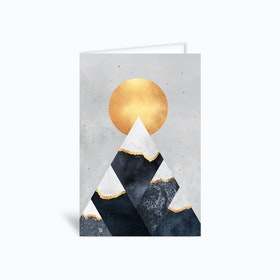 Winter Mountains Greetings Card