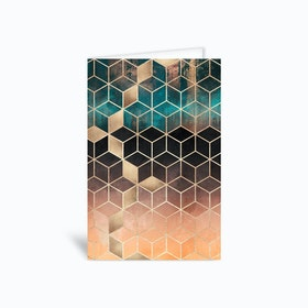 Ombre Dream Cubes Greetings Card