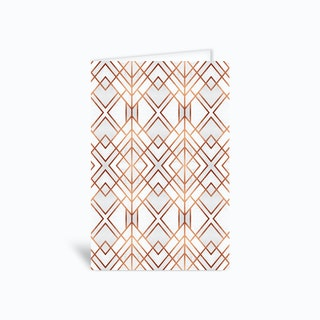 Copper Geo Greetings Card
