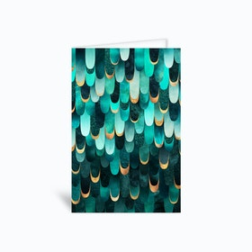 Feathered in Turquoise Greetings Card