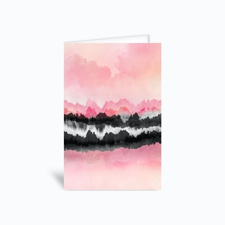Pink Mountains Greetings Card