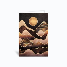 Sunkissed Mountains Greetings Card