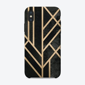 Art Deco Geometry Black iPhone Case