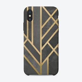 Art Deco Geometry I iPhone Case