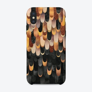 Feathered In Copper And Black iPhone Case