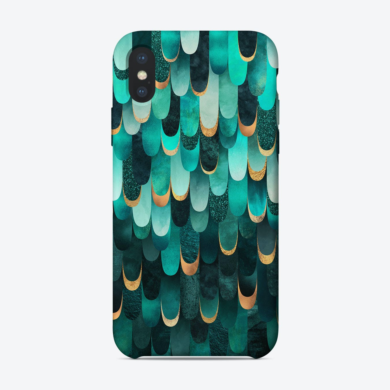 Feathered In Turquoise iPhone Case