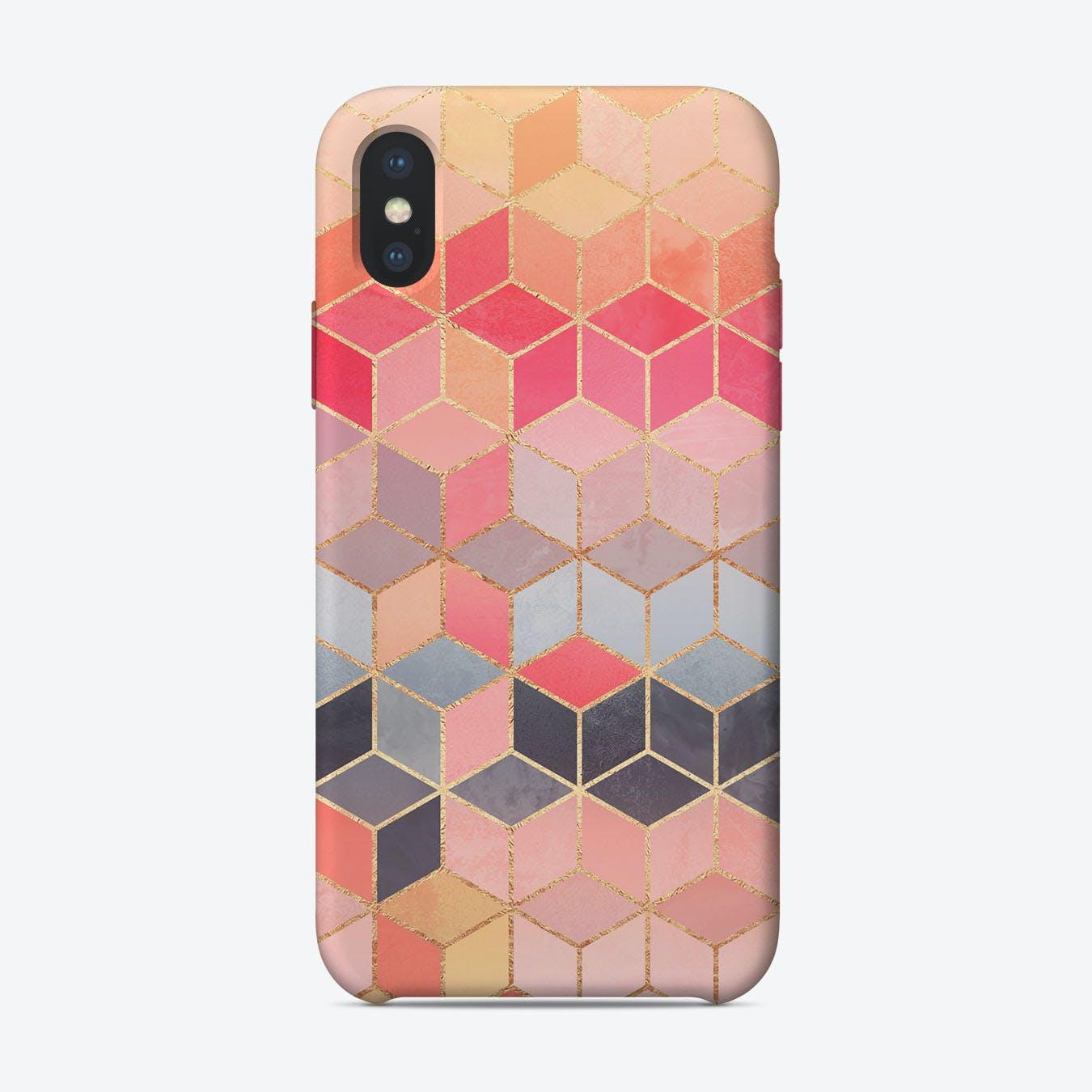 Happy Cubes iPhone Case