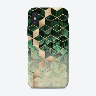 Leaves And Cubes 1 iPhone Case