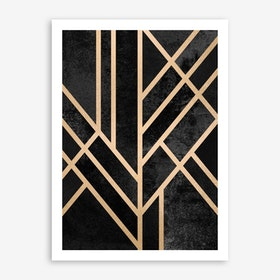 Art Deco Black Art Print