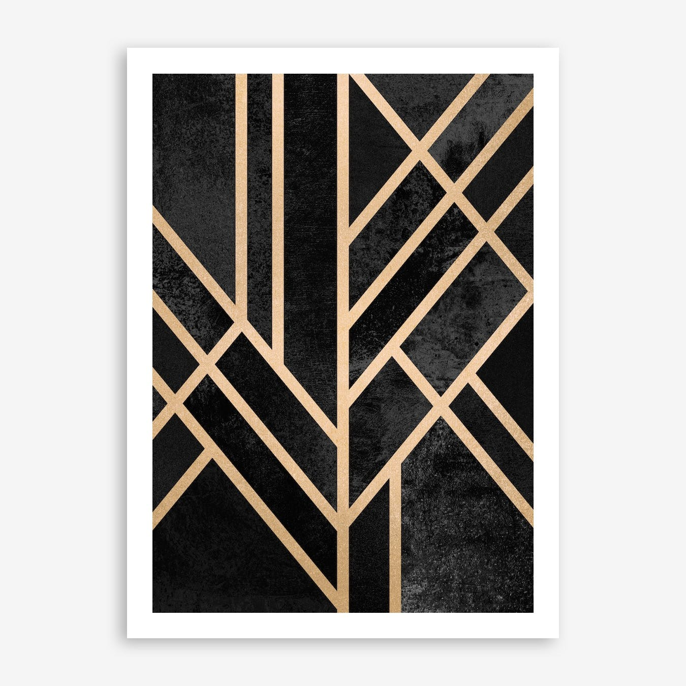 Art Deco Black Print