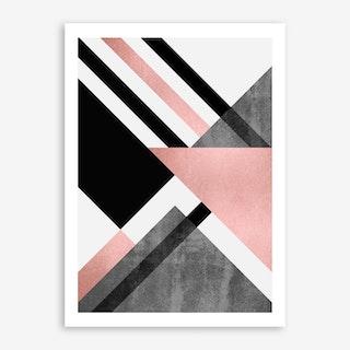 Foldings In Pink Art Print
