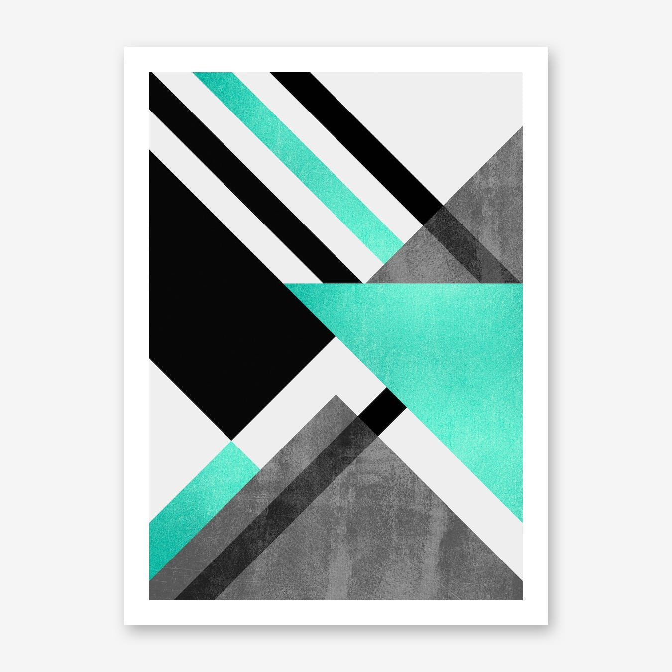 Foldings In Turquoise Print