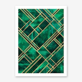 Emerald Blocks Art Print