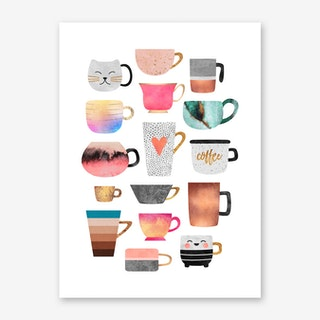 Coffee Cup Collection Art Print