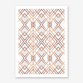 Copper Geo Art Print