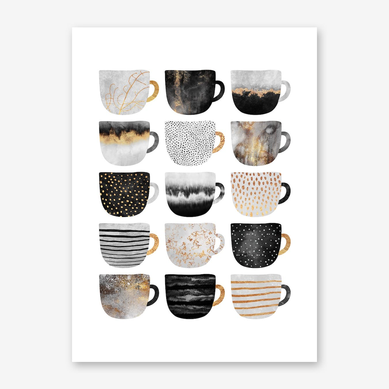 Pretty Coffee Cups 3 - White