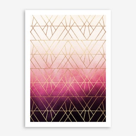 Pink Ombre Triangles Print
