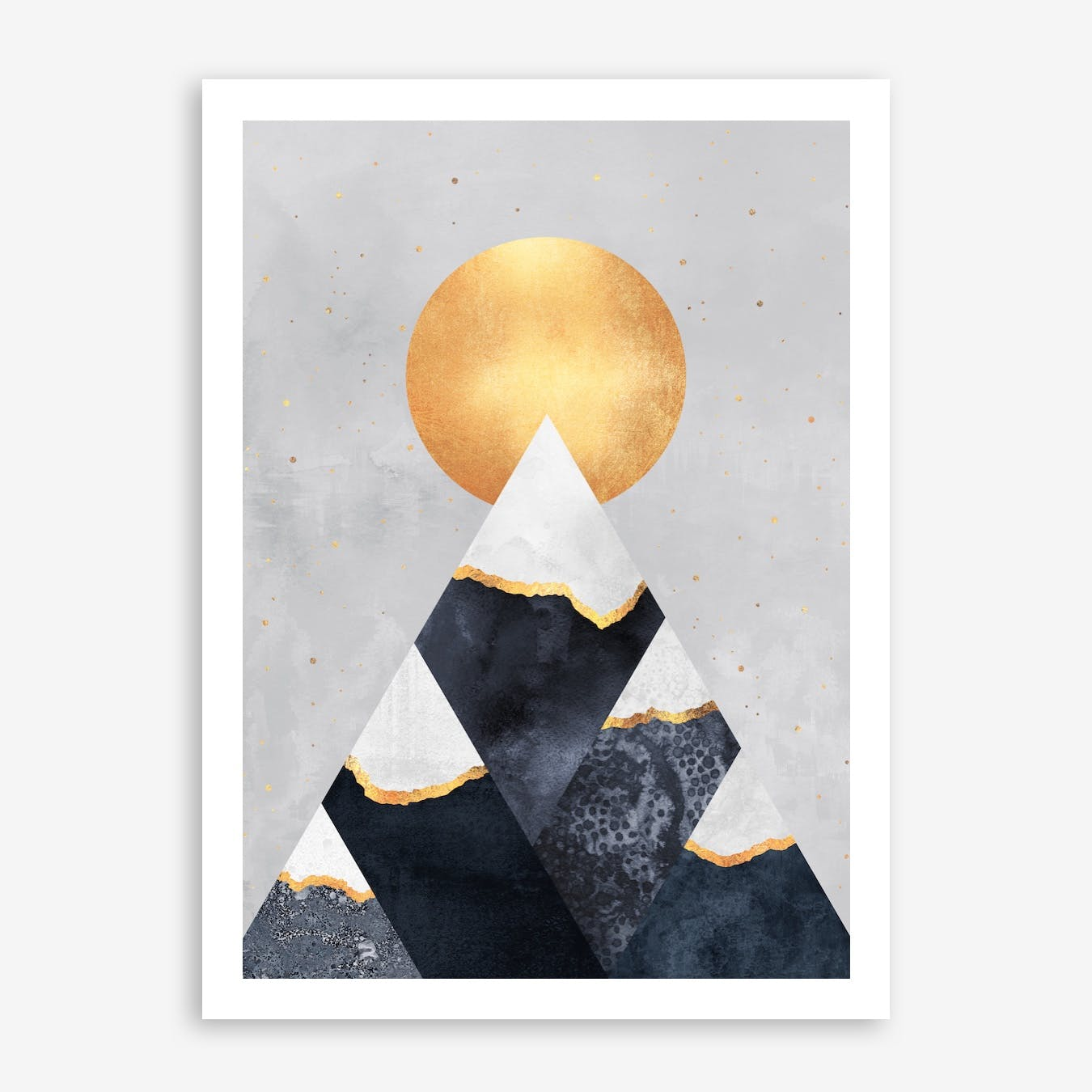 Winter Mountains Print