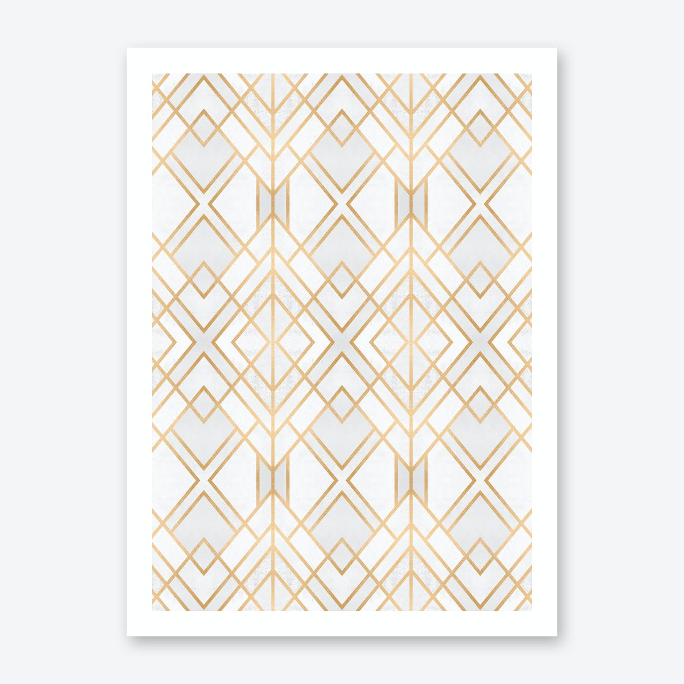 Golden Geo Art Print