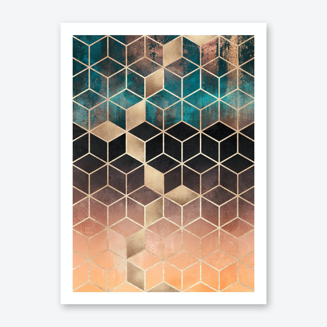 Ombre Dream Cubes Art Print