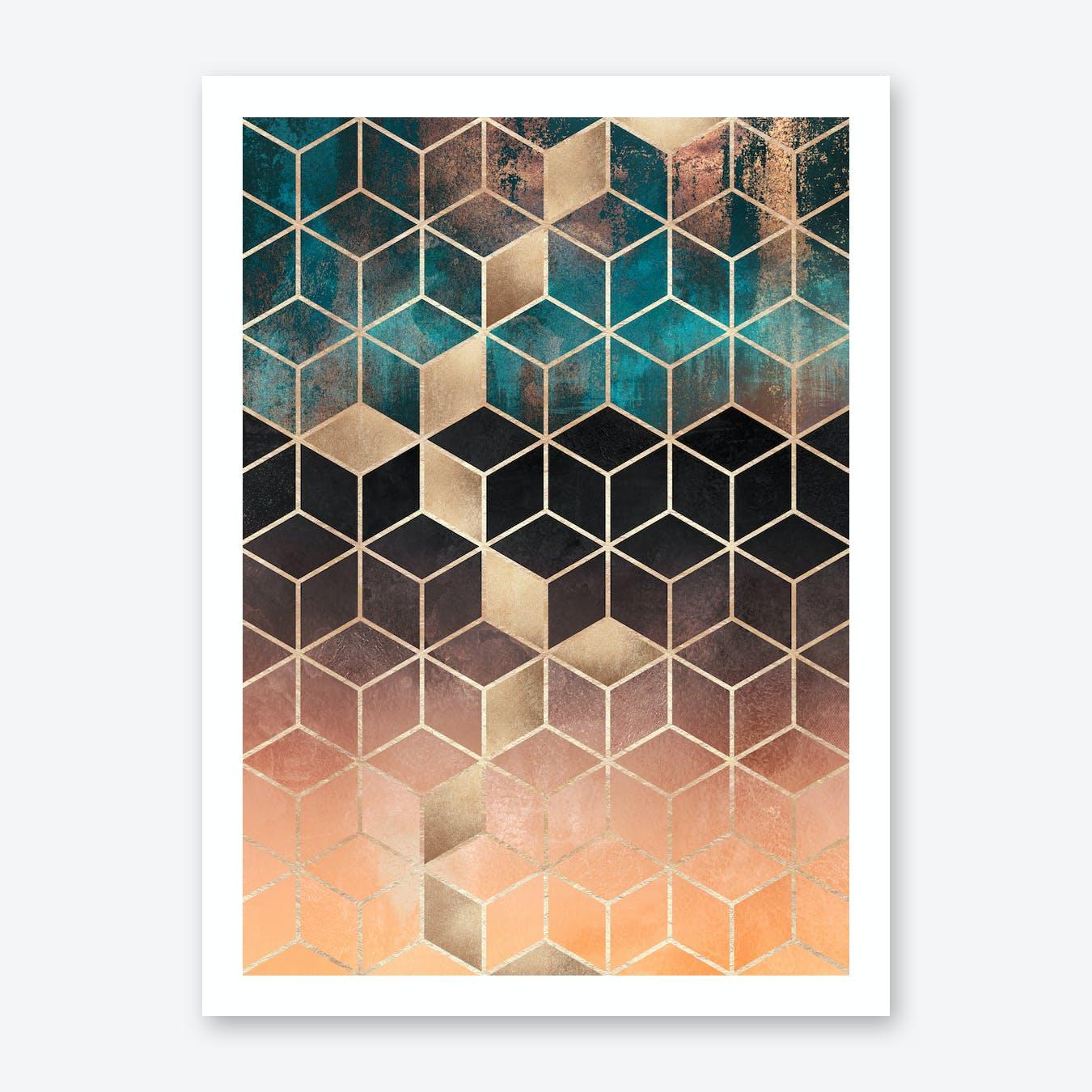 Ombre Dream Cubes Art Print