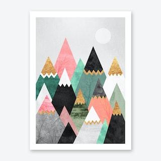 Pretty Mountains Art Print