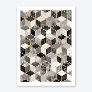 Black And White Cubes Art Print