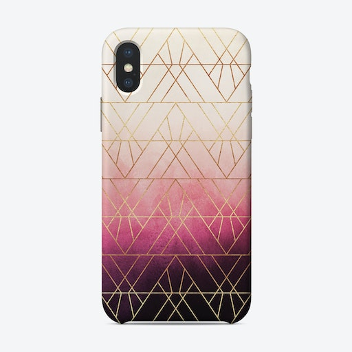 Pink Ombre Triangles iPhone Case