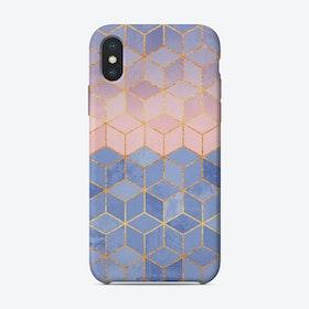 Rose Quartz And Serenity Cubes iPhone Case