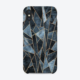 Shattered Soft Dark Blue iPhone Case
