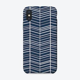 Blue Chevrons Phone Case