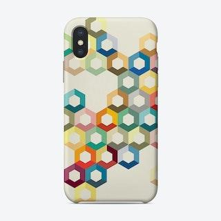 Colourful Honeycomb Phone Case