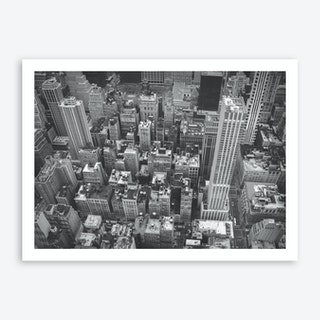 Black And White New York City Skyline Art Print