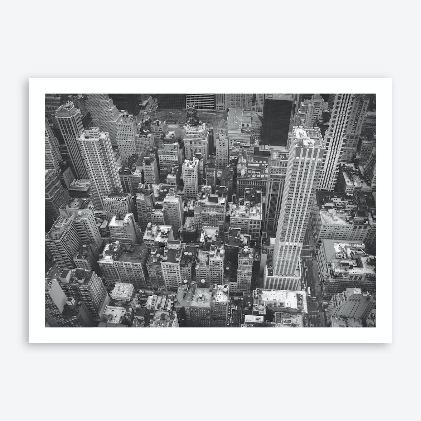 Black And White New York City Skyline Art Print