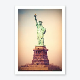 Vintage Staute Of Liberty Art Print