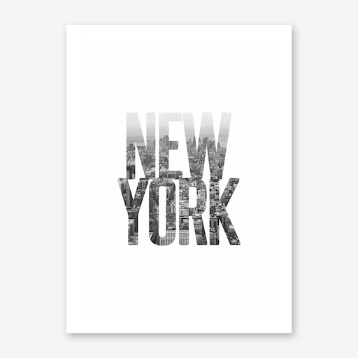 New York City Typography Art Print