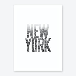 New York City Typography Art Print