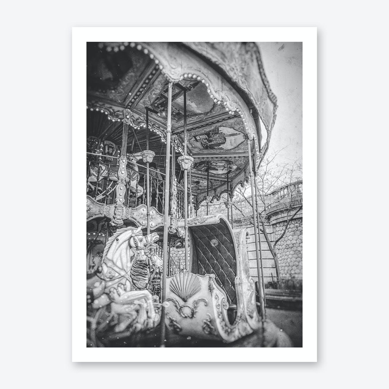 Old Carrousel In Paris Art Print