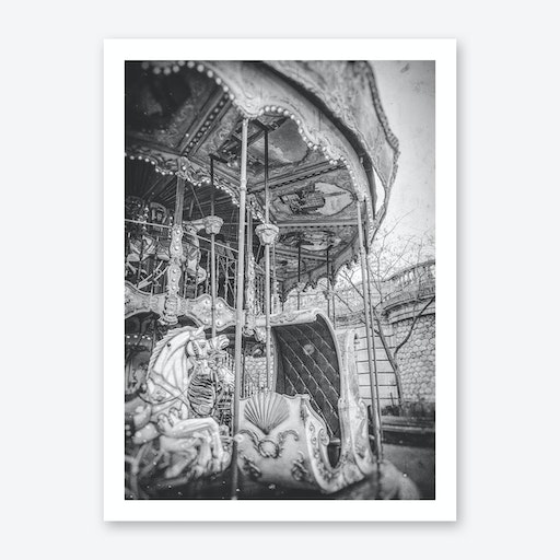 Old Carrousel In Paris Art Print