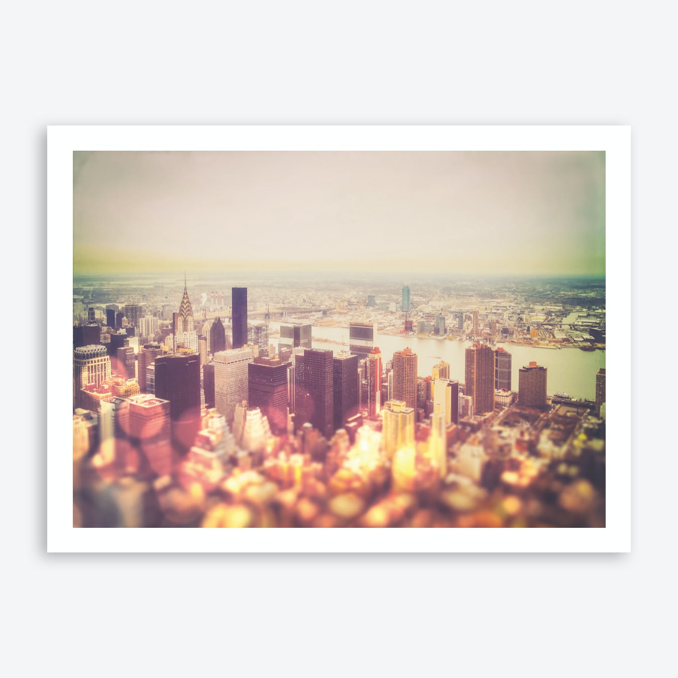 Vintage New York City Skyline Art Print