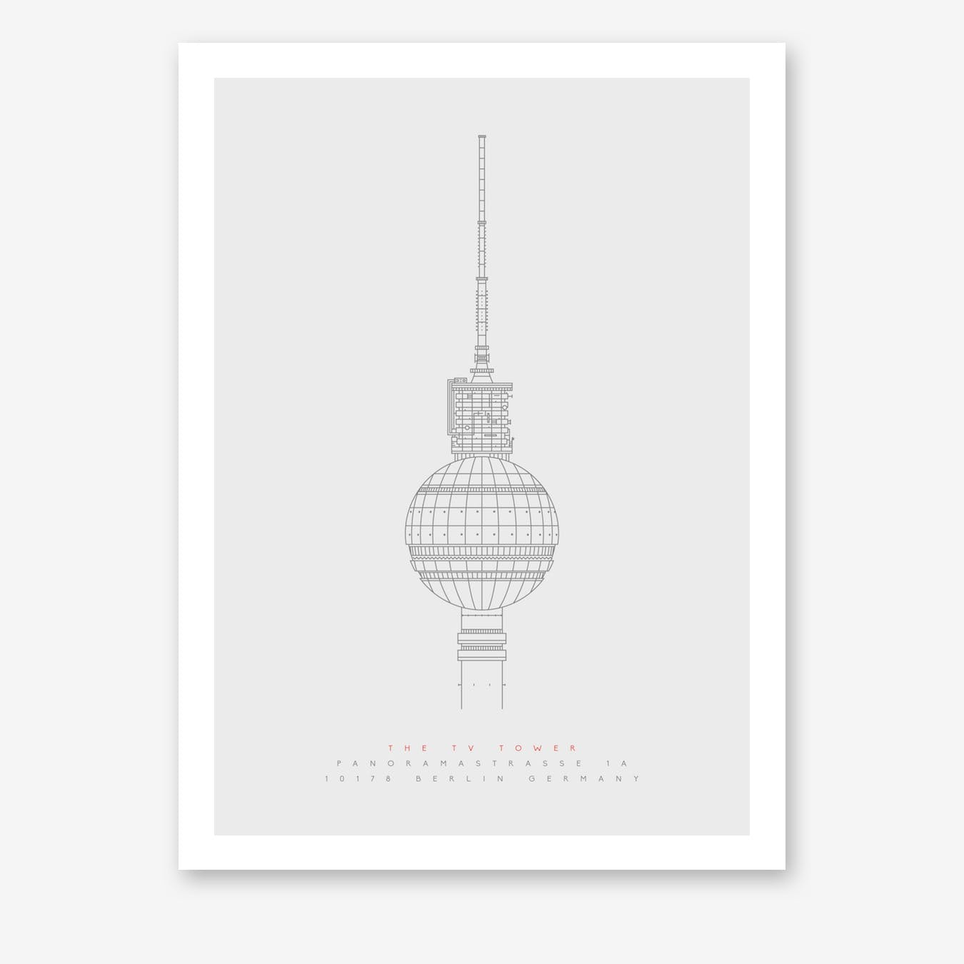The TV Tower Art Print