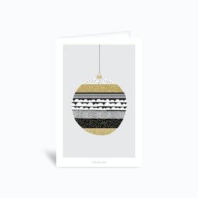 Christmas Bulbs No 2 Greetings Card