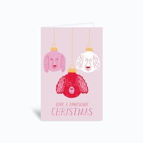 Pawesome Christmas Greetings Card