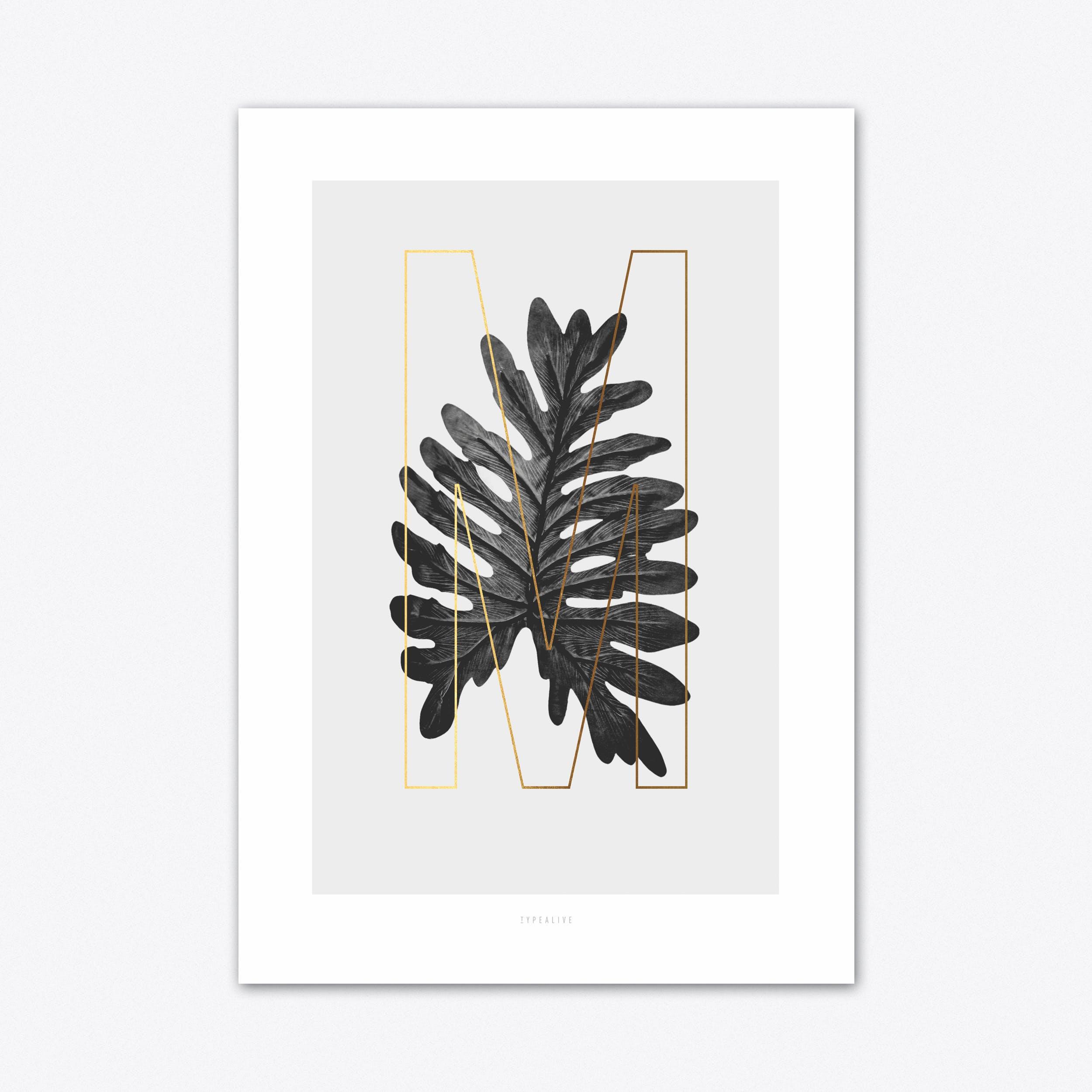 ABC Plants M Art Print