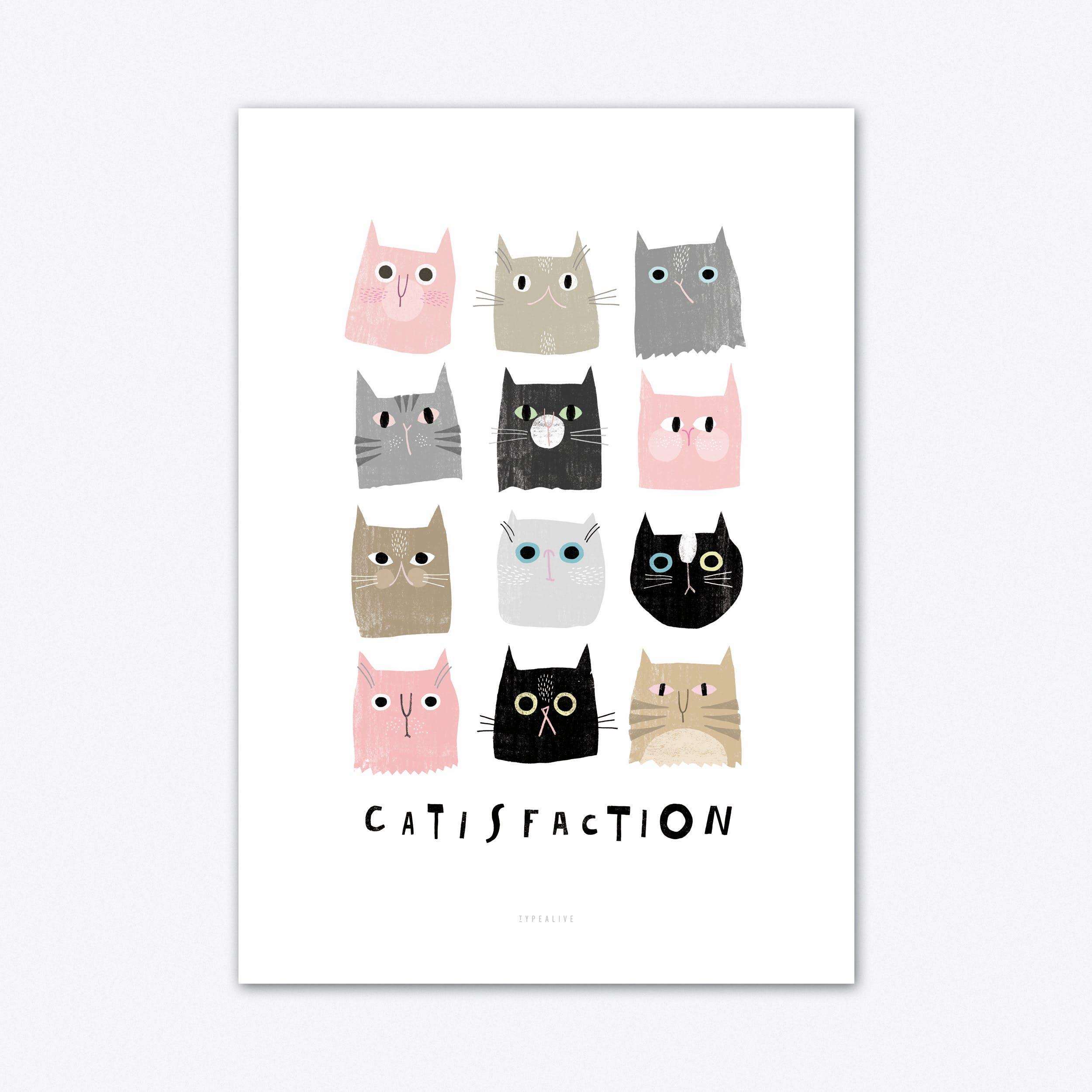 Catisfaction 1 Art Print