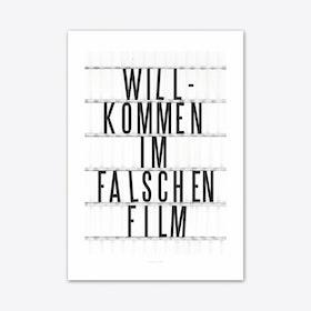 Falscher Film Art Print