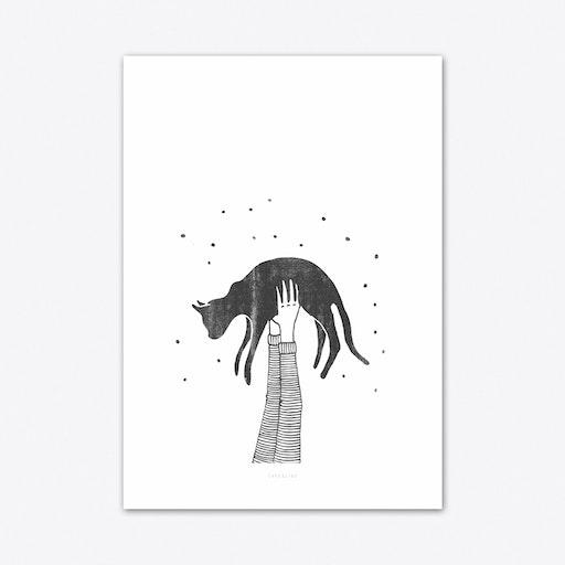 Hi Cat Art Print