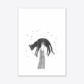 Hi Cat Art Print