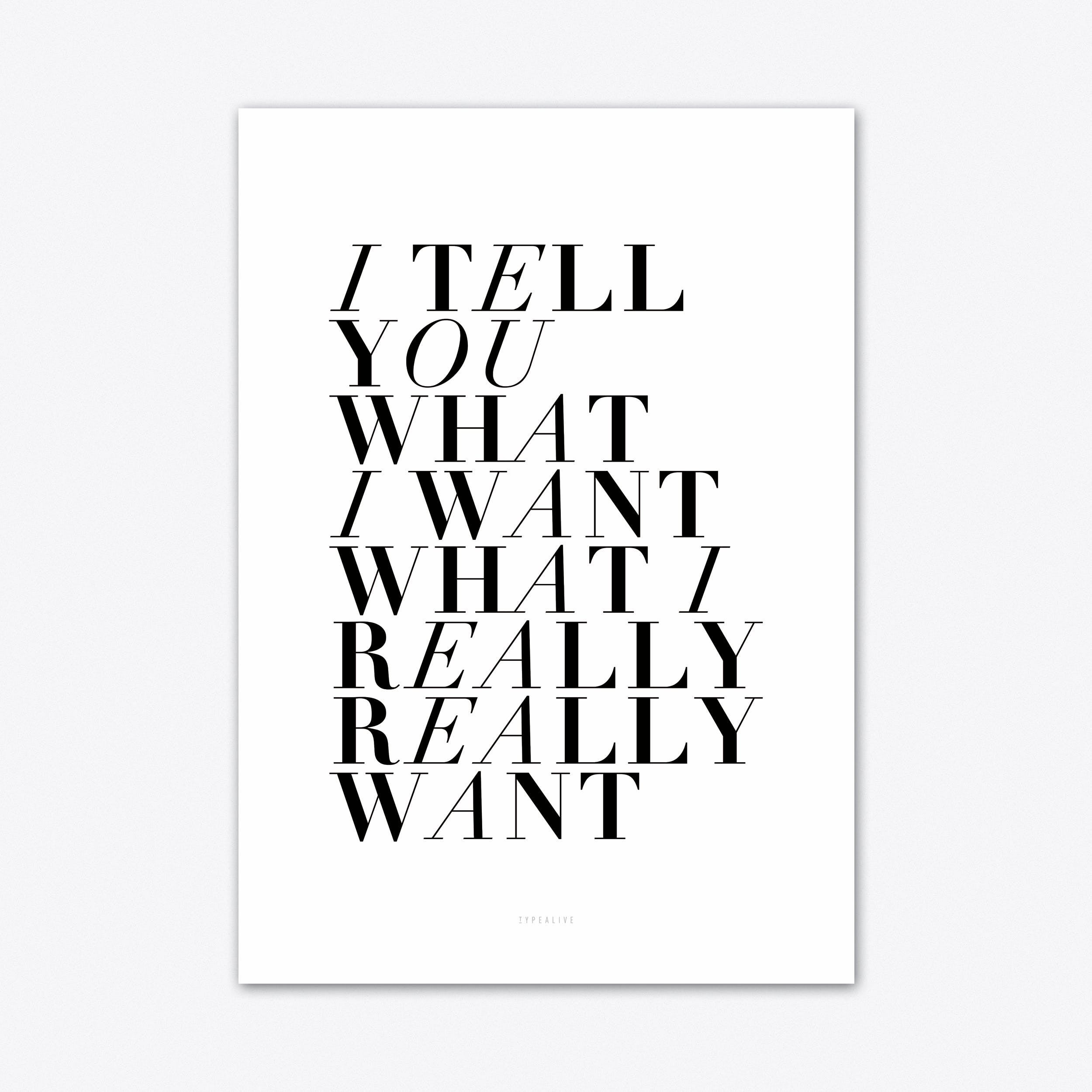 I Tell You Art Print
