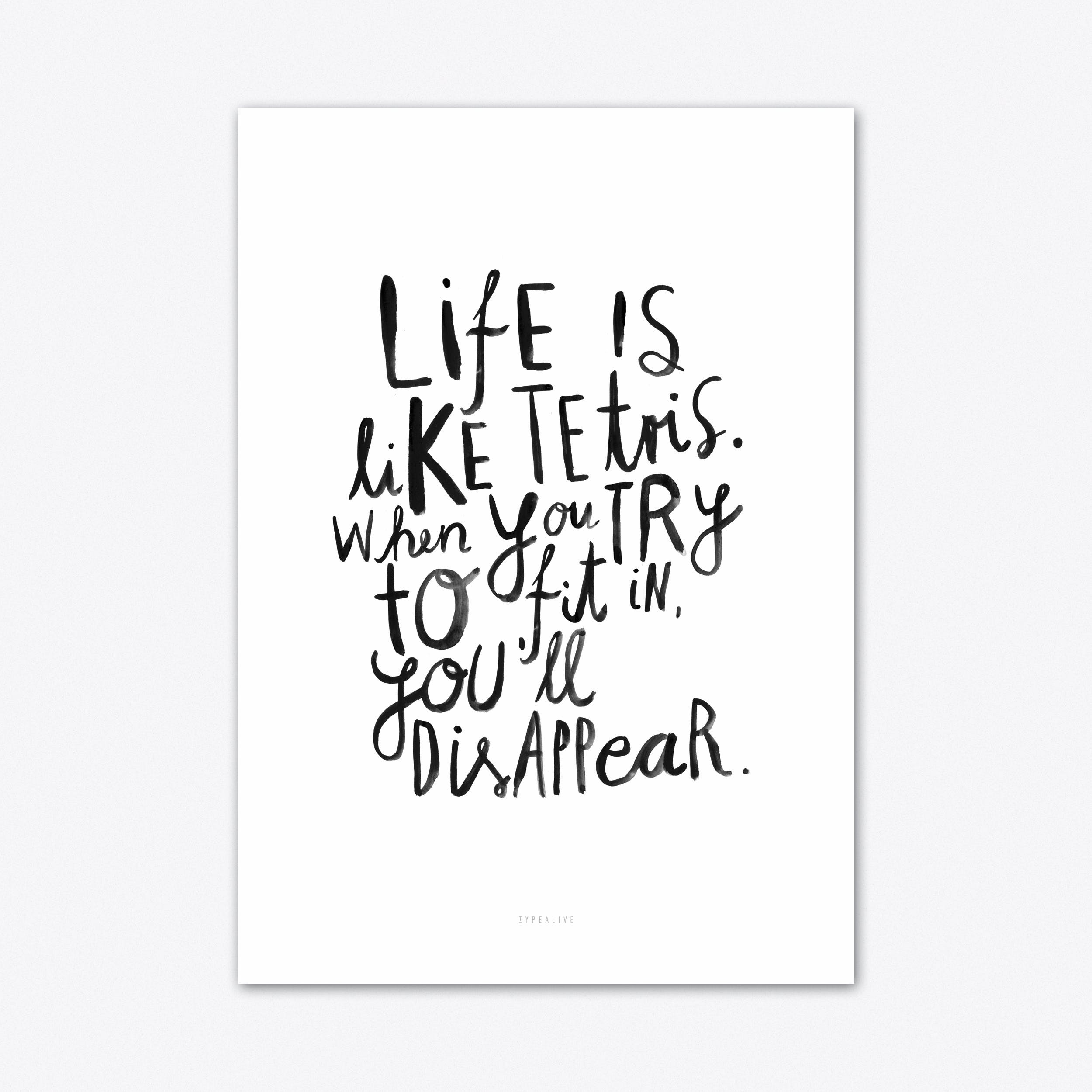Life is Art Print